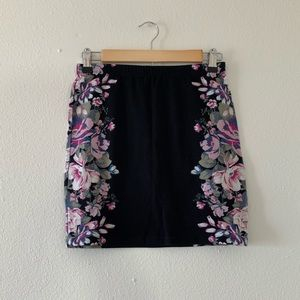 🎀Floral Black Printed Pencil Straight Skirt